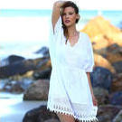 [Jam Jam White Chantilly Lace Summer Dress - $89.95]