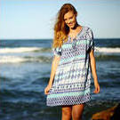 [Jam Jam Ikat Beach Dress in Blue - $99.95]