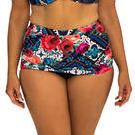 [Capriosca Swimwear Gypsy Rose Ruched Skirted Bikini Bottom - $69.00]