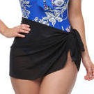 [Capriosca Swimwear Short Mesh Wrap Skirt in Black - $29.00]